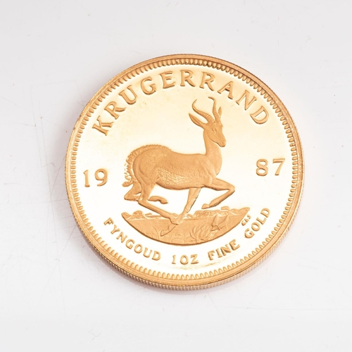 115 - A GOLD PROOF KRUGERRAND 1 OZ  OUNCE BOXED Minted 1987