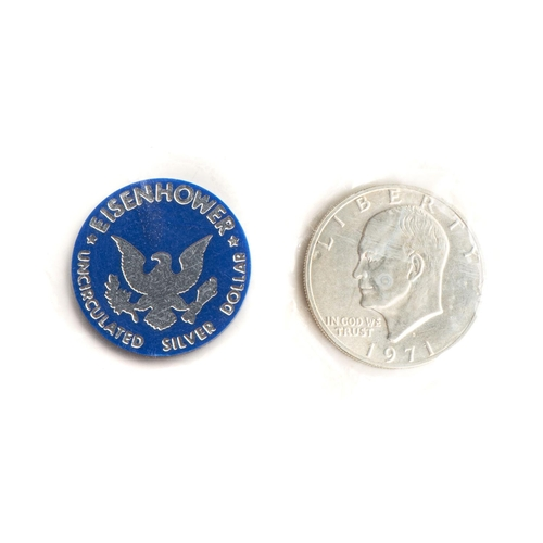 14 - AN UNCIRCULATED 40% SILVER EISENHOWER DOLLAR COIN Department of the treasury sealed