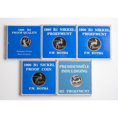 17 - A COLLECTION OF PROOF NICKEL COINS South African -various years and denominations