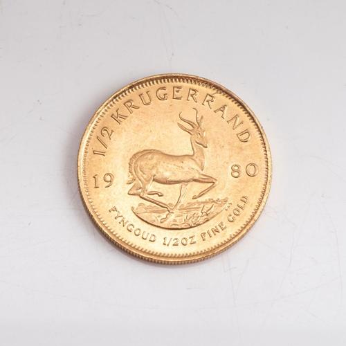 66 - A GOLD KRUGERRAND 1/2 OZ Minted 1980