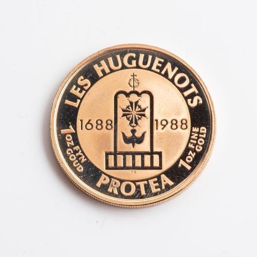 76 - A GOLD PROOF LES HUGENOTS MEDALLION 1 OZ BOXED Minted 1988