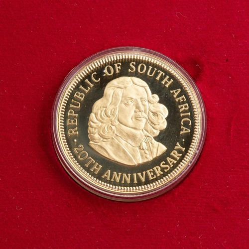 79 - A REPUBLIC OF SOUTH AFRICA ANNIVERSARY 1 OZ MEDALLION BOXED Encapsulated, minted 1981