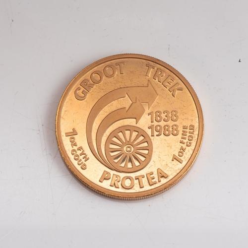 80 - A GOLD PROOF PROTEA GROOT TREK  1 OZ   Minted 1988