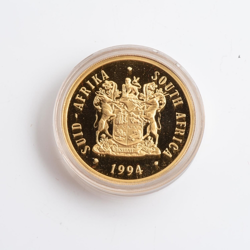 83 - A GOLD PROOF INAUGURALPROTEA COINS Encapsulated, minted 1994