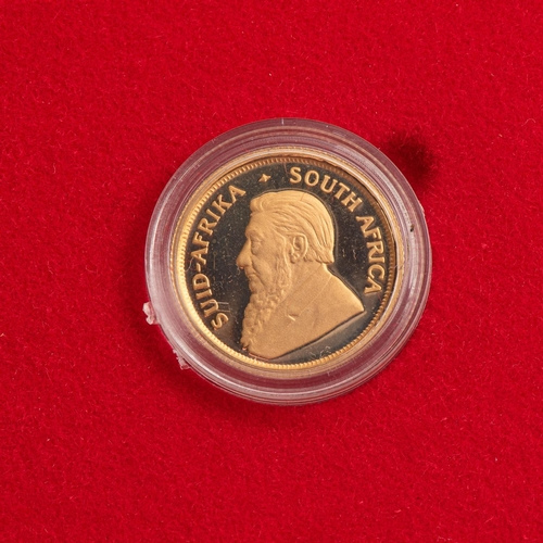 87 - A GOLD PROOF KRUGERRAND 1/10TH OUNCE BOXED Encapsulated, minted 1992