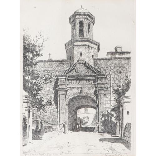 12 - Tinus de Jongh (South African 1885 - 1942), CAPE TOWN CASTLE ENTRANCE...