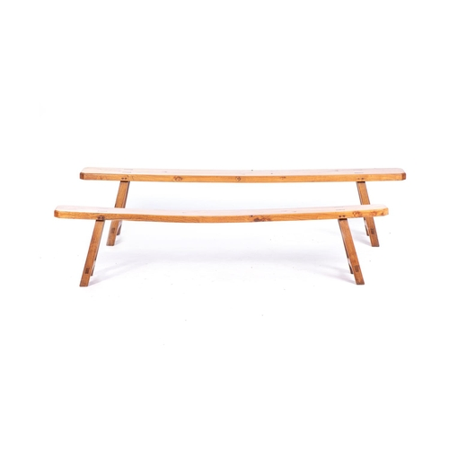 31 - A PAIR OF CAPE PINE BENCHES, 20th CENTURY...