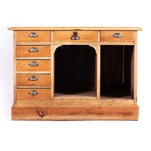 47 - A BLEACHED OAK KITCHEN CABINET, LATE 19th CENTURY...