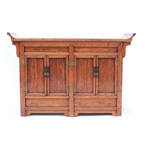 49 - AN EASTERN HARDWOOD CABINET...