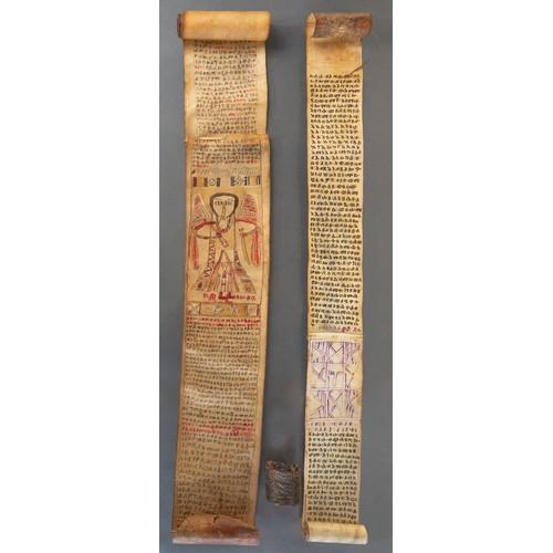 1191 - TWO DABTARA SCROLLS, ETHIOPIA