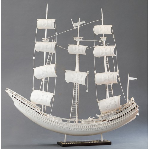 1190 - AN IVORY PORTUGUESE CARAVEL