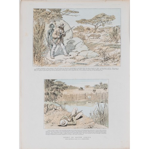 79 - EIGHT SCENES BY BADEN-POWELL OF SPORT IN SOUTH AFRICA