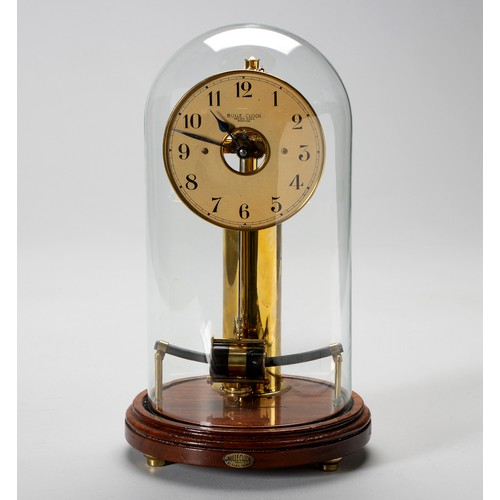 946 - A BRASS MANTEL CLOCK, BULLE, EARLY 20TH CENTURY