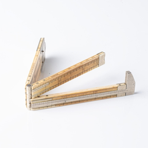 A SILVER-MOUNTED AND IVORY CALIPER, J. RABONE AND SONS, MID 20TH CENTURY