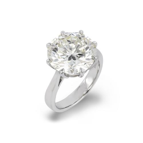 ROUND BRILLIANT CUT SOLITAIRE DIAMOND RING