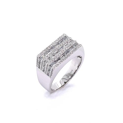 35 - MIXED DIAMOND CUT RING