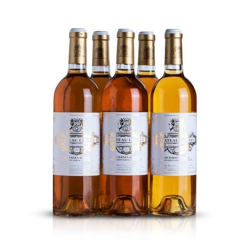 30 - Five bottles of Barsac AOC 1er Grand Cru Classé from Château Coutet