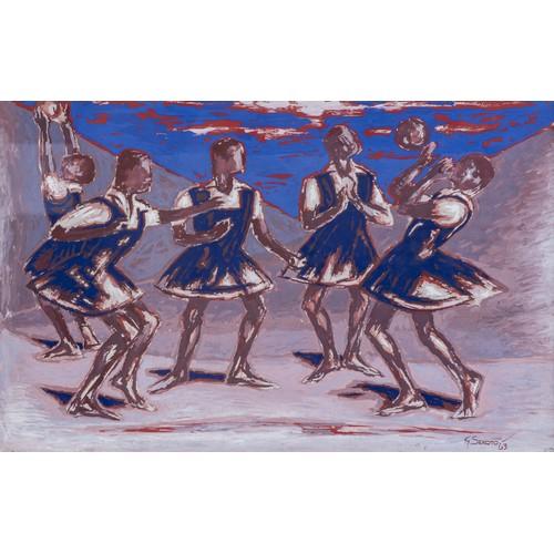 366 - Gerard Sekoto (South African 1913 - 1993) GIRLS PLAYING
