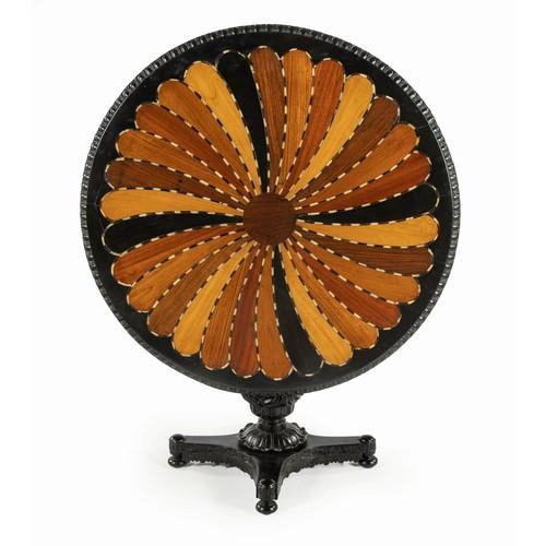 294 - AN EBONISED SPECIMEN TABLE, CEYLON, 19TH CENTURY