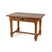 A CAPE YELLOWWOOD PEG TOP TABLE, 19TH CENTURY