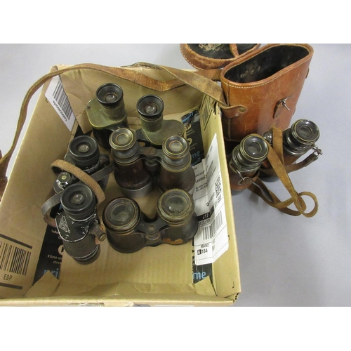 115 - Five various pairs of binoculars and field glasses...