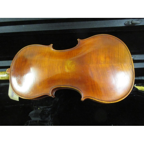 123 - French violin bearing a label ' Fait Sous la Direction de G. Apparut Annee 1941 ' in a case with bow...