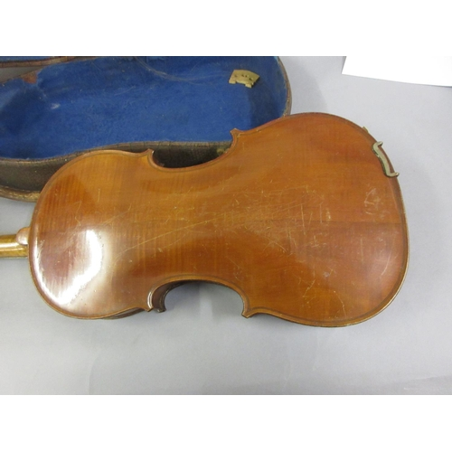 125 - French violin labelled Lutherie Artistique M. Couturieux with bow and case...