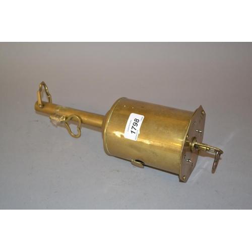 1798 - 19th Century brass cased keywind spit jack by G. Salter (with key)...