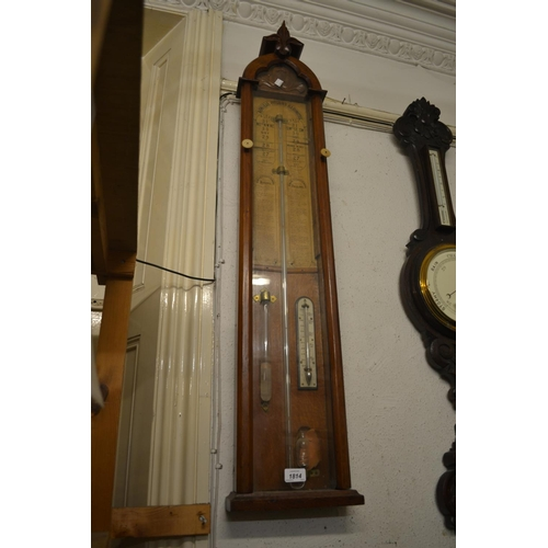 1814 - 19th Century Gothic revival oak cased Admiral Fitzroy barometer...