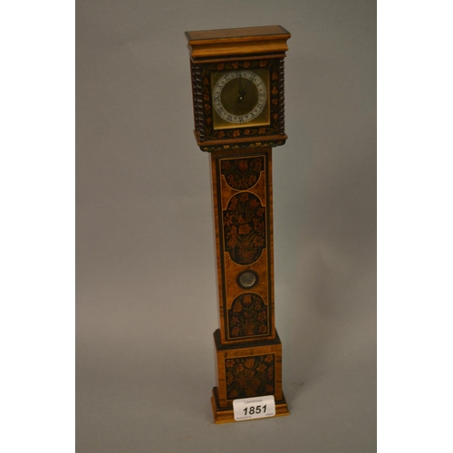 1851 - Reproduction William and Mary style miniature longcase clock...