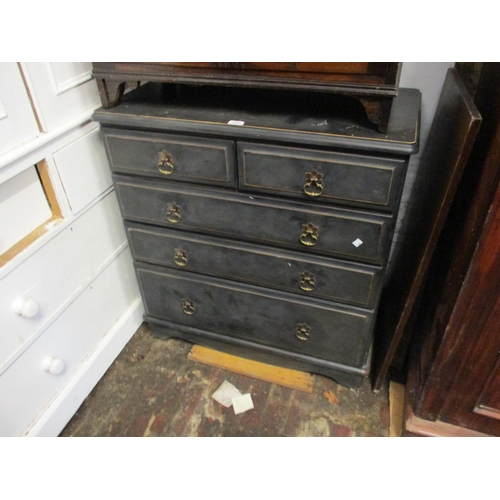 1895 - Modern painted pine chest of two short and three long drawers...