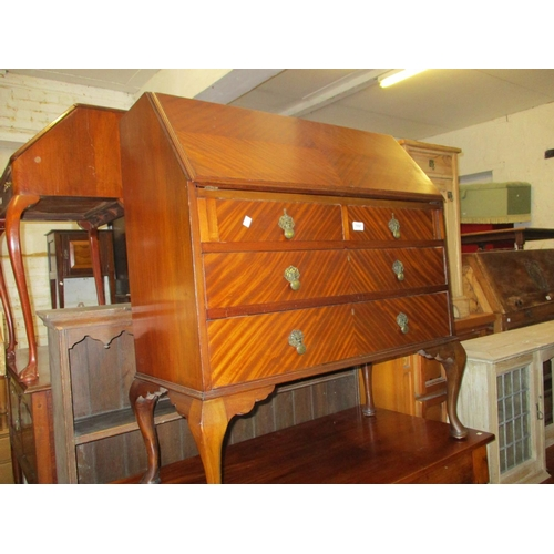 1897 - Mid 20th Century mahogany bureau having fall front above two short and two long drawers with cabriol...