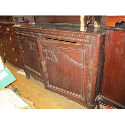 2391 - 19th Century French dresser having shelved spindle and boarded back above a moulded plank top with c...