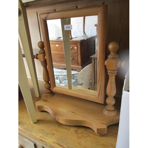 2456 - Victorian swing frame toilet mirror with platform base together with another similar...