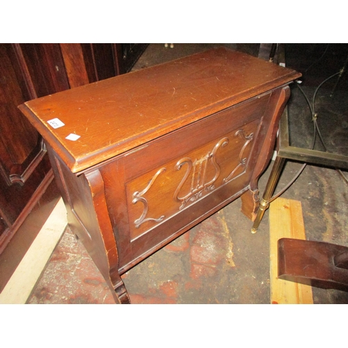 2473 - Early 20th Century mahogany box seat organ stool...