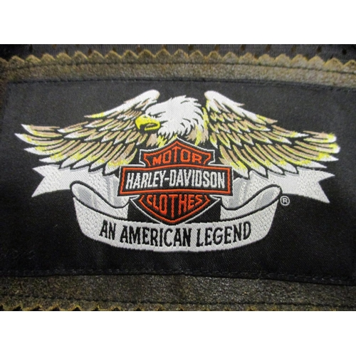 36 - Harley Davidson leather jacket, size medium, made in China...