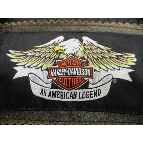 36 - Harley Davidson leather jacket, size medium, made in China