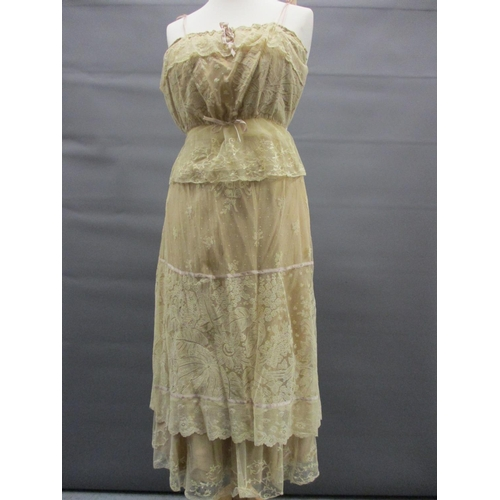37 - Edwardian camisole and petticoat together with a quantity of various mainly mid 20th Century ladies ...