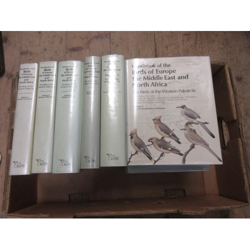 552 - Nine volumes, ' Birds of Europe, The Middle East and North Africa ', editor Stanley Cramp, published...