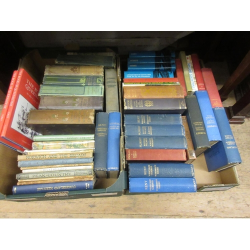 560 - Two boxes containing a quantity of books on topography...