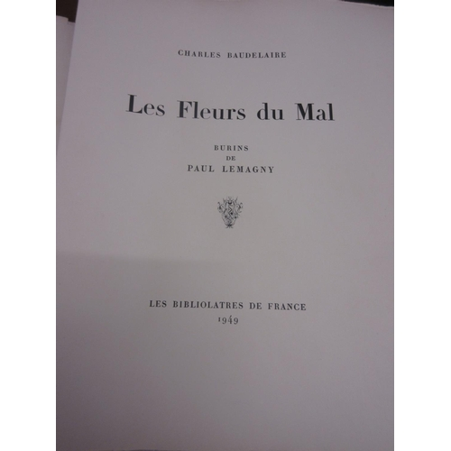 570 - One volume, ' Les Fleurs Du Mar ' by Charles Baudelaire, with illustrations by Paul Lemagny in a Lim...