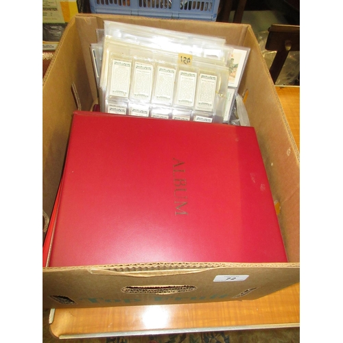 72 - Extensive collection of cigarette cards including: Ogdens, Wills and Churchman, housed in four album...