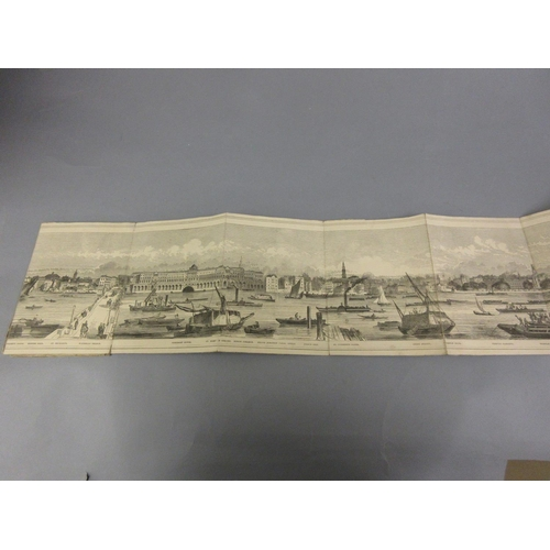 73 - Henry Vizetelly (engraver), The Grand Panorama of London, 19th Century, 150ins long approximately...