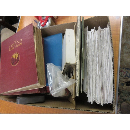 75 - Three albums containing a quantity of various World stamps, various First Day covers and loose stamp...