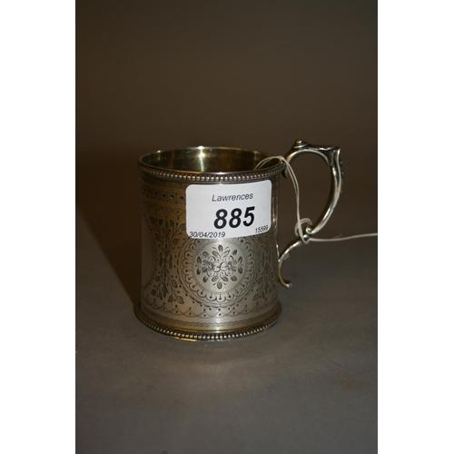 885 - Victorian silver beaker hallmarked London, 1875...