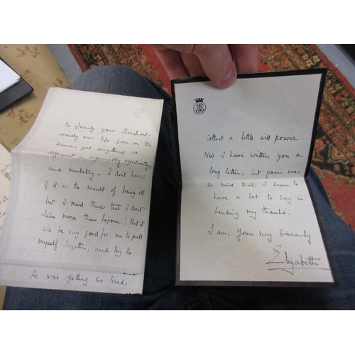 204 - Large selection of signed autograph, Royal and other letters, including Elizabeth the Queen Mother, ...
