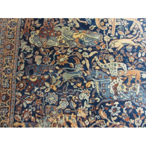 5 - 20th Century French machine woven rug of Persian design with all-over hunting pattern and borders, 7...