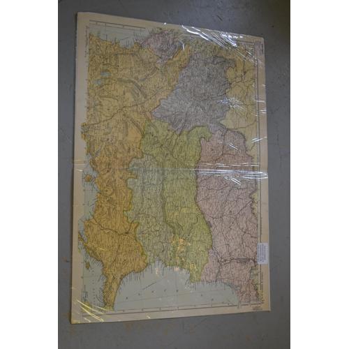 1008 - Folio containing a quantity of various antique maps, unframed...