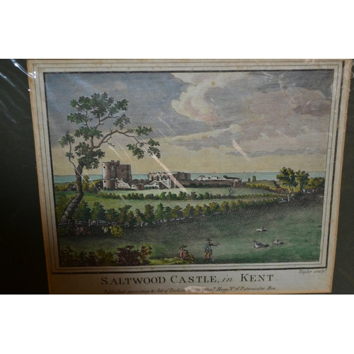 1016 - Quantity of various prints including: views of Ham House, Saltwood Castle, Merton Abbey etc, view fr...