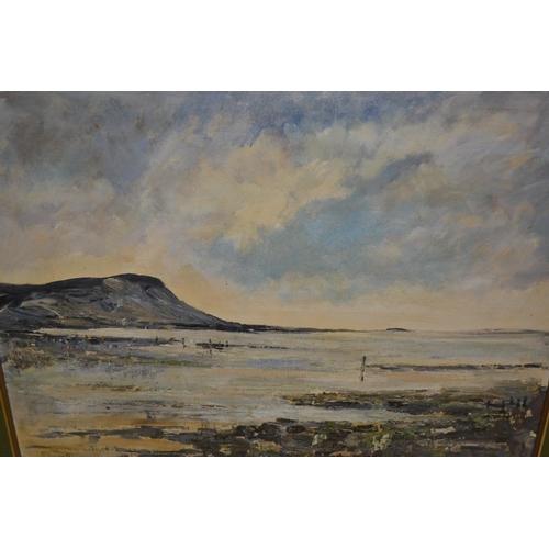 1021 - D. Garratt, oil on board, ' Brittany ', 18ins x 24ins, gilt framed...